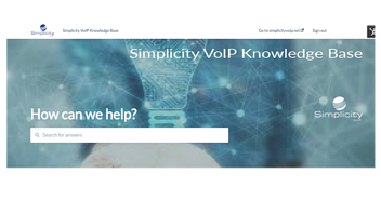 Simplicity VoIP Knowledge Base Front Page Image
