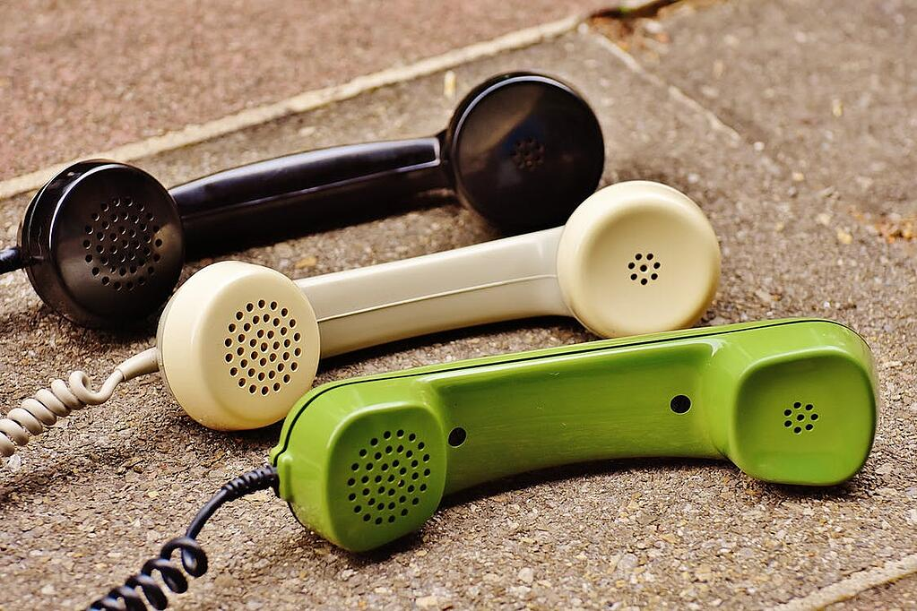 Old corded phones