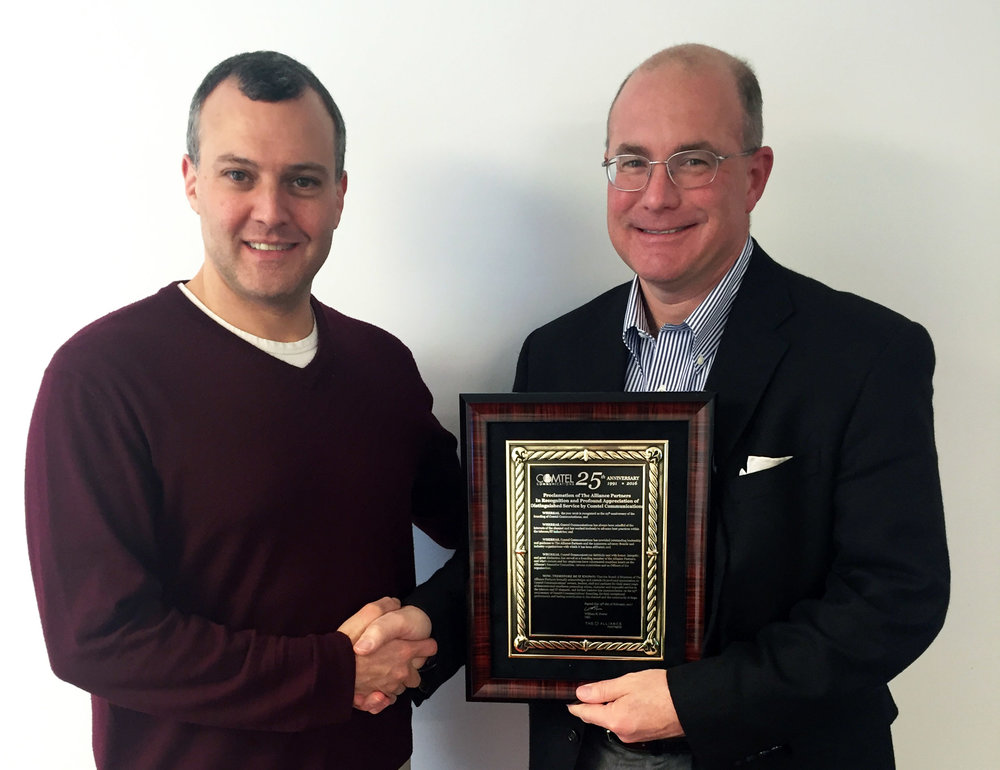 Comtel Receives Recognition from The Alliance Partners