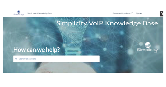 Simplicity VoIP Announces Knowledge Base Launch