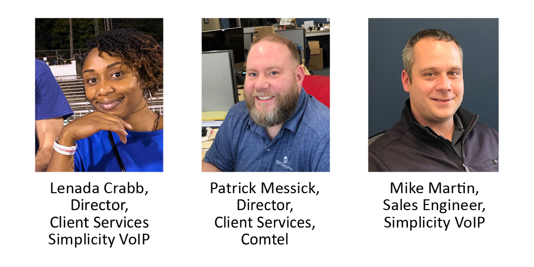 Simplicity VoIP & Comtel Promote 3 Client Services Team Members