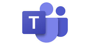 """An image of the blue Microsoft Teams symbol, with two abstract """"people"""" behind a blue square with a white """"T"""" in it."""